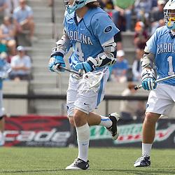 Game action: North Carolina lacrosse at Hopkins
