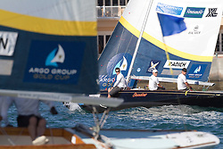 Jesper Radich during the semi finals of the Argo Group Gold Cup 2010. Hamilton, Bermuda. 9 October 2010. Photo: Subzero Images/WMRT