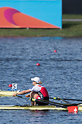 Sarasota. Florida USA.SUI W1X, Jeannine GMELIN, winning the final. Sunday Final's Day at the  2017 World Rowing Championships, Nathan Benderson Park<br /> <br /> Sunday  01.10.17   <br /> <br /> [Mandatory Credit. Peter SPURRIER/Intersport Images].<br /> <br /> <br /> NIKON CORPORATION -  NIKON D500  lens  VR 500mm f/4G IF-ED mm. 200 ISO 1/1250/sec. f 5.6