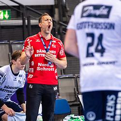 Maik Machulla (Trainer SG Flensburg-Handewitt) ; Schrei / LIQUI MOLY HBL / 1. Handball-Bundesliga: TVB Stuttgart - SG Flensburg-Handewitt am 09.06.2021 in Stuttgart (PORSCHE Arena), Baden-Wuerttemberg, Deutschland<br /> <br /> Foto © PIX-Sportfotos *** Foto ist honorarpflichtig! *** Auf Anfrage in hoeherer Qualitaet/Aufloesung. Belegexemplar erbeten. Veroeffentlichung ausschliesslich fuer journalistisch-publizistische Zwecke. For editorial use only.