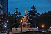 Neptune fountain at night, Batumi, Adjara, Georgia