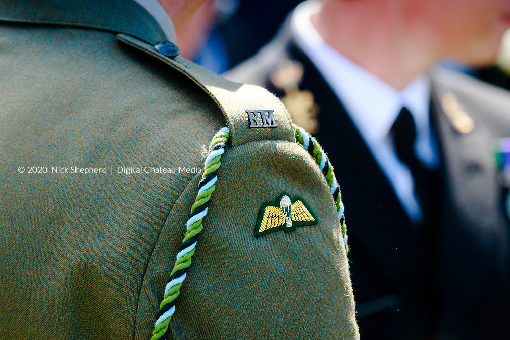 Military dress uniforms detail, Royal Marines and the Royal Navy.