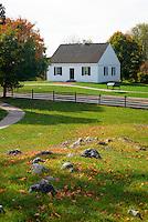 The Dunker Church, Antietam National Battlefield, Sharpsburg, Maryland, USA.
