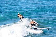 Orange County Surfers Sharing Waves