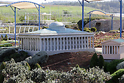 Jerusalem architecture at Mini Israel, Mini Israel is a park of scaled down models of sites and building in Israel, All models are exact copies of  the sites, buildings and landscapes from around the country built at a scale of 1:25