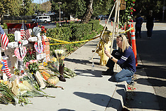 Thousand Oaks Shooting - Family & Friends of Victims Gathering at borderline in honor - 12 Nov 2018