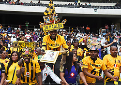Cape Town-180915- Kaizer Chiefs supporters celebrate their team's win against Cape Town City in the ABSA Premiership clash at the cape Town Stadium.Photographs:Phando Jikelo/African News Agency/ANA