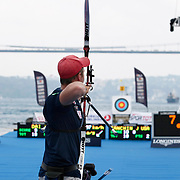 Joe FANCHIN (USA) competes in Archery World Cup Final in Istanbul, Turkey, Sunday, September 25, 2011. Photo by TURKPIX
