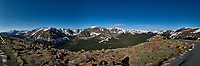 Panorama from Trail Ridge Road. Rocky Mountain National Park. Composite of seven images taken with a Nikon D200 camera and 14 mm f/2.8 lens (ISO 100, 14 mm, f/11, 1/320 sec).