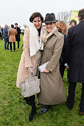 Left to right, RONNI ANCONA and CLARE BALDING at the 2015 Hennessy Gold Cup held at Newbury Racecourse, Berkshire on 28th November 2015.