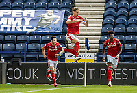 Nottingham Forest's Michael Dawson (centre) leads his side on to the pitch<br /> <br /> Photographer Andrew Kearns/CameraSport<br /> <br /> The EFL Sky Bet Championship - Preston North End v Nottingham Forest - Saturday 11th July 2020 - Deepdale Stadium - Preston <br /> <br /> World Copyright © 2020 CameraSport. All rights reserved. 43 Linden Ave. Countesthorpe. Leicester. England. LE8 5PG - Tel: +44 (0) 116 277 4147 - admin@camerasport.com - www.camerasport.com