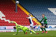 Goal 4-2 Blackburn Rovers midfielder Harvey Elliott (16) scores a goal 4-2 during the EFL Sky Bet Championship match between Blackburn Rovers and Birmingham City at Ewood Park, Blackburn, England on 8 May 2021.