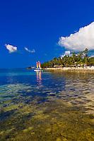Hobie cats (catamarans), Cheeca Resort and Lodge, Islamorada Key, Florida Keys, Florida USA
