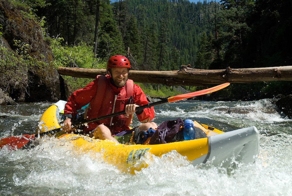 Running a rapid on Oregon's North Fork of the John Day River.