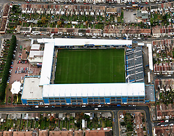 Image ©Licensed to i-Images Picture Agency. Aerial views. United Kingdom.<br /> Priestfield stadium, home of Gillingham FC. Picture by i-Images