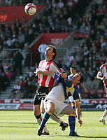 Photo: Lee Earle.<br /> Southampton v Cardiff City. Coca Cola Championship. 21/10/2007. Cardiff's Robbie Fowler (R) battles with Christian Dailly.