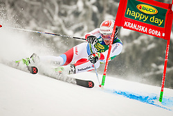 Elia Zurbriggen of Switzerland during 2nd run of Men's Giant Slalom race of FIS Alpine Ski World Cup 57th Vitranc Cup 2018, on March 3, 2018 in Podkoren, Kranjska Gora, Slovenia. Photo by Ziga Zupan / Sportida