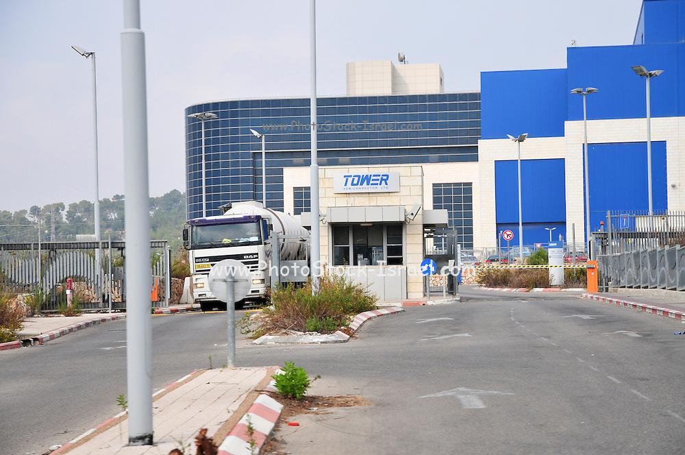 Israel, Galilee, Migdal HaEmek Industrial Zone TowerJazz (Tower Semiconductors) manufacturing fab