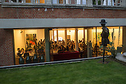 ELMGREEN AND DRAGSET SCULPTURE, DINNER IN BACKGROUND, , Dinner to celebrate the 10th Anniversary of Contemporary Istanbul Hosted at the Residence of Freda & Izak Uziyel, London. 23 June 2015