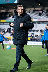 coach John Stegeman of Heracles Almelo during the Dutch Eredivisie match between Heracles Almelo and PSV Eindhoven at Polman stadium on January 21, 2018 in Almelo, The Netherlands