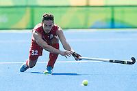 RIO DE JANEIRO  (Brazilië) - Tanguy Cosyns (Belg.)   during the poule match hockey men Belgium v Great Britain (4-1),  tijdens de Olympic Games 2016 <br /> Copyright Koen Suyk