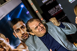 LOS ANGELES, CA - MARCH 2: Canelo's father Santos Alvarez attends Canelo vs Khan press conference at Universal CityWalk - Five Towers Stage on March 2, 2016 in Los Angeles. Canelo vs. Khan, a 12-round fight for Canelo's WBC, Ring Magazine and Lineal Middleweight World Championships, is promoted by Golden Boy Promotions in association with Canelo Promotions and sponsored by Cerveza Tecate, BORN BOLD, O'Reilly Auto Parts and Casa Mexico Tequila. The mega-event will take place on Saturday, May 7 at T-Mobile Arena in Las Vegas and will be produced and distributed live by HBO Pay-Per-View beginning at 9:00 p.m. ET/6:00 p.m. PT. Byline, credit, TV usage, web usage or linkback must read SILVEXPHOTO.COM. Failure to byline correctly will incur double the agreed fee. Tel: +1 714 504 6870.