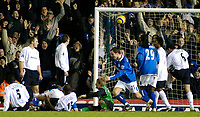 Photo. Glyn Thomas, Digitalsport<br /> Birmingham City v Bolton Wanderers.<br /> Barclays Premiership. 04/01/2005.<br /> Birmingham's Matthew Upson (hidden) equalises mid-way through the second half.