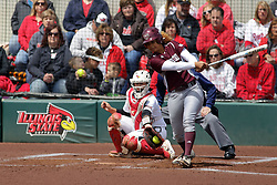 22 April 2017:  Darian Frost during a Missouri Valley Conference (MVC) women's softball game between the Missouri State Bears and the Illinois State Redbirds on Marian Kneer Field in Normal IL