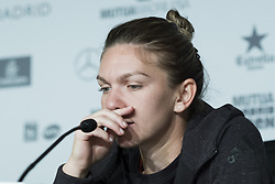 May 11, 2017 - Madrid, Spain - Press conference of Simona Halep aduring day six of the Mutua Madrid Open tennis at La Caja Magica on May 11, 2017 in Madrid, Spain. (Credit Image: © Oscar Gonzalez/NurPhoto via ZUMA Press)