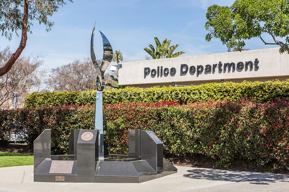 Veteran's Memorial in the Downey Civic Center  Area