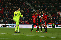Football - 2017 / 2018 Premier League - AFC Bournemouth vs. West Bromwich Albion<br /> <br /> The Bournemouth defence congratulate Charlie Daniels on his last minute goal line clearance at Dean Court (Vitality Stadium) Bournemouth <br /> <br /> COLORSPORT/SHAUN BOGGUST