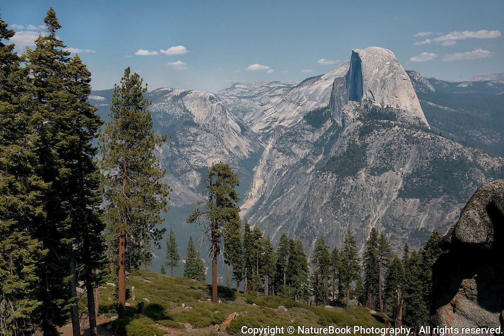 One of the most dramatic views of Half Dome in Yosemite National Park can be found at Glacier Point, which was once the site of the Glacier Point Hotel.