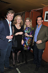 Left to right, EDWARD LEGARD, ANTONIA FAWCETT, TIFFANY FISHER and HUMPHREY FISHER at a party to relaunch PR First London, held at the 606 Club, Lots Road, London SW10 on 16th January 2013.