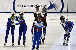 February 8, 2019 - Torino, Italia - Foto LaPresse/Nicolò Campo .8/02/2019 Torino (Italia) .Sport.ISU World Cup Short Track Torino - 3000 meter Ladies Relay Quarterfinals.Nella foto: Martina Valcepina e Arianna Sighel festeggiano la qualificazione..Photo LaPresse/Nicolò Campo .February 8, 2019 Turin (Italy) .Sport.ISU World Cup Short Track Turin - 3000 meter Ladies Relay Quarterfinals.In the picture: Martina Valcepina and Arianna Sighel celebrate (Credit Image: © Nicolò Campo/Lapresse via ZUMA Press)