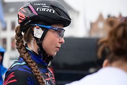 Christa Riffel (GER) waits to sign on at Driedaagse Brugge - De Panne 2018 - a 151.7 km road race from Brugge to De Panne on March 22, 2018. Photo by Sean Robinson/Velofocus.com