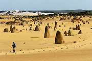 """Namburg National Park, is also know by """"The Pinnacles Desert"""" because of the thousands of sandstone pinnacles formed here due to erosion."""