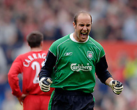 Photo: Glyn Thomas.<br />Chelsea v Liverpool. The FA Cup, Semi-Final. 22/04/2006.<br />Liverpool's Jose Reina celebrates.