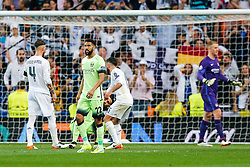 Gael Clichy of Manchester City looks dejected after Real Madrid win 1-0 to progress for the Champions League Final - Mandatory byline: Rogan Thomson/JMP - 04/05/2016 - FOOTBALL - Santiago Bernabeu Stadium - Madrid, Spain - Real Madrid v Manchester City - UEFA Champions League Semi Finals: Second Leg.