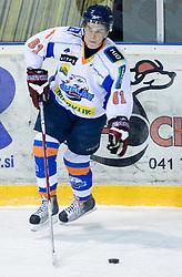 Jan Bercic of Triglav at SLOHOKEJ league ice hockey match between HK Slavija and HK Triglav Kranj, on February 3, 2010 in Arena Zalog, Ljubljana, Slovenia. Triglaw won 4:1. (Photo by Vid Ponikvar / Sportida)