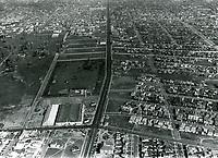 1930 Aerial photo looking at Wilshire Blvd. towards Fairfax Ave.