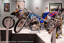 "The ""Built for Speed"" exhibition curated by Michael Lichter and Paul D'Orleans in the Russ Brown Events Center as part of the annual ""Motorcycles as Art"" series at the Sturgis Buffalo Chip during the Black Hills Motorcycle Rally. SD, USA. August 7, 2014.  Photography ©2014 Michael Lichter."