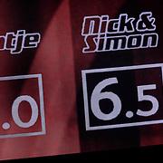 NLD/Hilversum/20121109 - The Voice of Holland 1e liveuitzending, scorebord