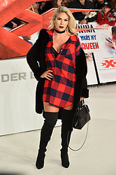 © Licensed to London News Pictures. 10/12/2017. FRANKIE ESSEX attends the European film premiere of xXx: Return of Xander Cage. London, UK. Photo credit: Ray Tang/LNP
