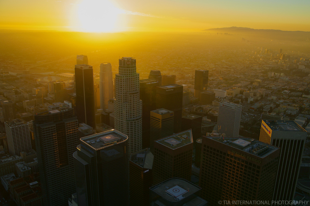 Rooftops of Downtown LA @ Sunset