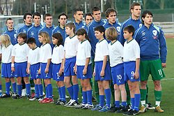 Team of Slovenia before Friendly match between U-21 National teams of Slovenia and Romania, on February 11, 2009, in Nova Gorica, Slovenia. (Photo by Vid Ponikvar / Sportida)
