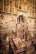 Altar in the abbey chapel, Krka Monastery, Krka National Park, Dalmatia, Croatia