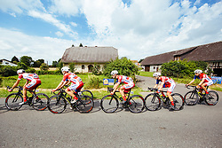Cyclists of Adria Mobil Cycling Team during 1st Stage of 25th Tour de Slovenie 2018 cycling race between Lendava and Murska Sobota (159 km), on June 13, 2018 in  Slovenia. Photo by Vid Ponikvar / Sportida