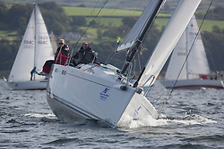 Largs Regatta Festival 2018<br /> <br /> Day 1 - Restricted sail Class Start with GBR8722R, Black Jack of Kip, Phil Moyes, CCC, J122e and  Mallie<br /> <br /> Images: Marc Turner