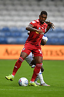 Football - 2019 / 2020 Sky Bet (EFL) Championship - Queens Park Rangers vs. Fulham<br /> <br /> Fulham's Ivan Cavaleiro holds off the challenge from Queens Park Rangers' Osman Kakay, at Kiyan Prince Foundation Stadium (Loftus Road).<br /> <br /> COLORSPORT/ASHLEY WESTERN