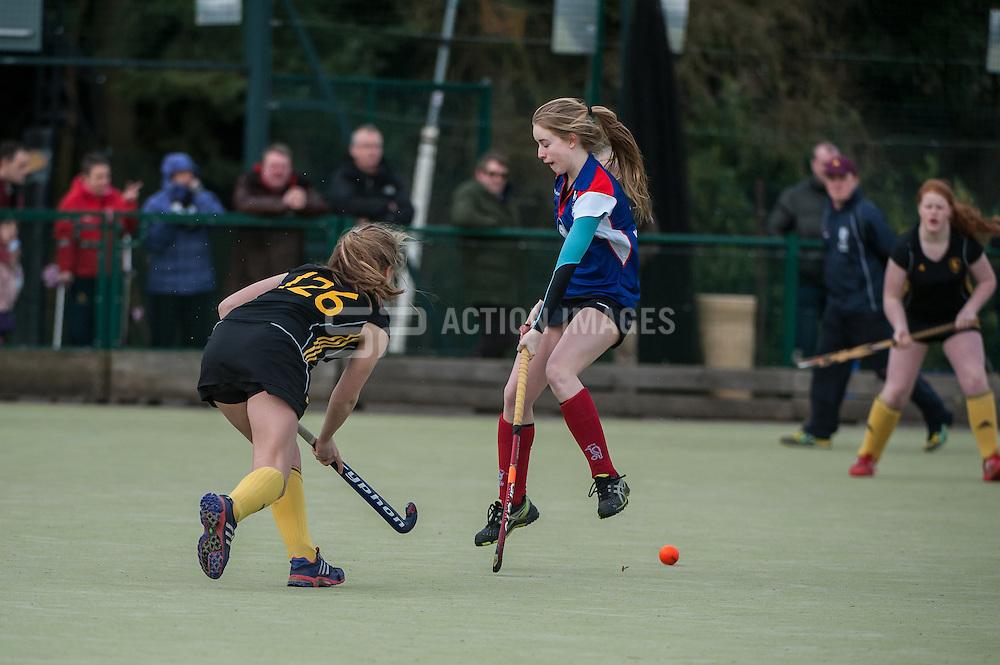 Bishop's Stortford v Beeston, Hockerill College, Bishop's Stortford, UK on 02 March 2014. Photo: Simon Parker